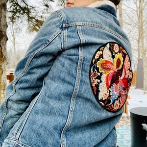 One of Kind GAP Patches Jean Jacket